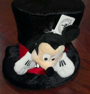 NWT AUTHENTIC DISNEY PARKS MICKEY MOUSE PLUSH TOP HAT ADJUSTABLE VHTF