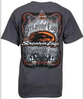HARLEY DAVIDSON® MENS SCREAMIN EAGLE REVERSE LOGO RACE TEAM T SHIRT