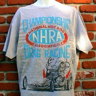 NHRA DRAG RACING T SHIRT FORD CHEVY MOPAR GASSER IHRA SCTA HARLEY 2X