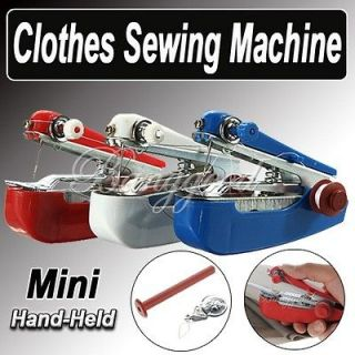 Portable Mini Hand Held Clothes Sewing Machine Set Needle Threader