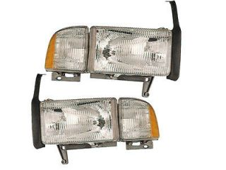 94 01 PICKUP w/XENONS HEADLIGHTS HEADLAMPS 1500 2500 3500 SET PAIR NEW