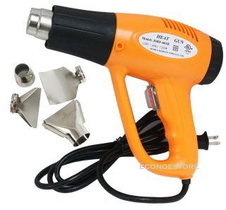 UL 1200 Watt 4 Nozzles Electric Heat Gun Strip Paint Shrink Wrap