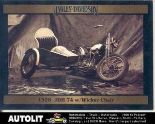 1928 Harley Davidson JDH74 Wicker Chair Motorcycle Card