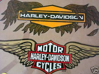 New Harley Davidson Gold Wing Bar and Shield Large Window Decal
