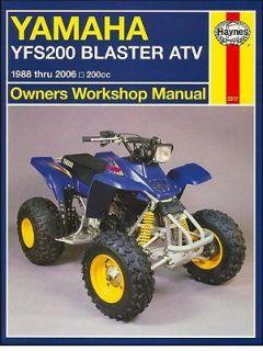 1988 2006 Yamaha YFS 200 Blaster ATV Quad REPAIR MANUAL