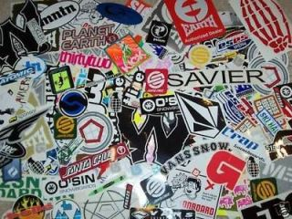 SNOWBOARD STICKER LOT SANTA CRUZ BURTON K2 VOLCOM SIMS NEFF 32 FORUM