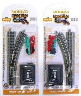 SCALE MODEL RAILROAD TRAINS LAYOUT BACHMANN EZ TRACK LEFT & RIGHT