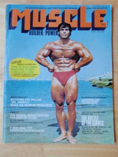 MUSCLE BUILDER bodybuilding magazine/FRANC​O COLUMBU/Arnold