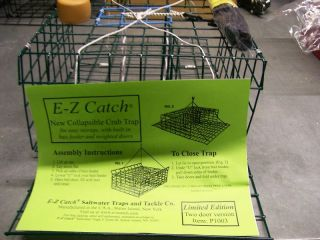 Catch *Patent Folding Crab Pot Trap w/ Rope & Buoy Two Door