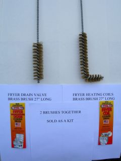 BRASS BRUSH KIT CLEANS BROASTER PRESSURE FRYER,PITCO OR FRYMASTER