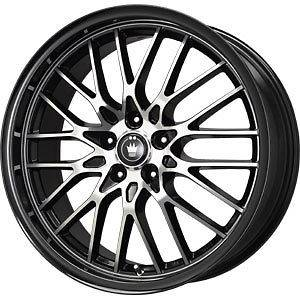 New 16X7 5x100/5x114.3 KONIG Lace Black Wheels/Rims