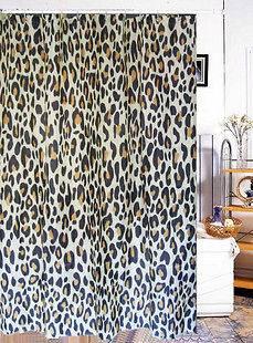 72 New Fashion Leopard Print Bathroom Fabric Waterproof Shower