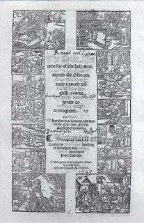1549 MATTHEWS FOLIO BIBLE GENERAL TITLE IN FACSIMILE