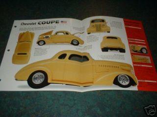 1938 CHEVY CUSTOM COUPE ORIGINAL IMP BROCHURE 38