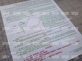 THERMADOR swamp cooler instruction sheet for rat rods