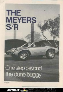 1970 Meyers S/R VW Kit Car Dune Buggy Article