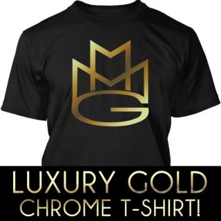 MMG MAYBACH MUSIC GROUP RICK ROSS GOLD CHROME VINYL T SHIRT XS XXL