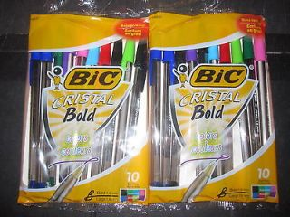Bic Cristal Bold Colors 2 10 pack assorted color ball point style pens