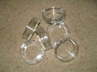 Lot of 6 Clear 3 1/4 Round Glass Ashtrays