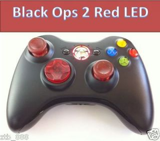 XBOX 360 RAPID FIRE MODDED CONTROLLER FOR BLACK OPS 2 MW3 CLEAR RED