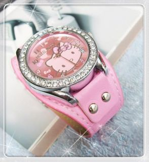 dial HelloKitty Watches Students kids Wrist Watch 3 colors Style #10