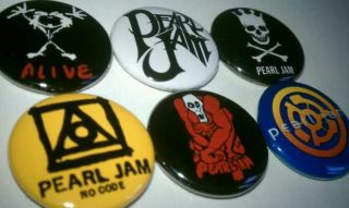 6x Pearl Jam Eddie Vedder Buttons Badges shirt Pins NEW