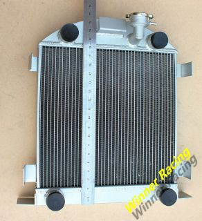 21.5 high aluminum radiator Ford Lowboy chopped w/flathead V8 engine