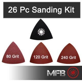26 Pc Sanding Kit Fein Multimaster, Bosch, Dremel, Mastercraft
