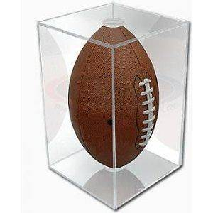 NFL   NCAA BallQube Football Holder Sports Memorabilia Display Case