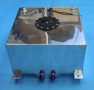 10 Gallon Fuel Cell Tank Polished Aluminum 16.5x16.5x9.25