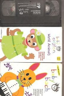 Baby Bach, Baby Einstein World Animals, & Baby Van Gogh Tapes
