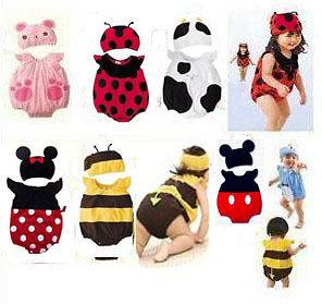 Cute Baby Toddler Animal Design DRESSUP BODYSUIT with Beanie Costume