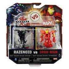Bakugan Razenoid vs Marvel Iron Man Battle Brawlers New In Package