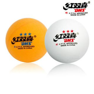 40mm DHS DOUBLE HAPPINESS 3 STAR TABLE TENNIS BALL PING PONG BALLS