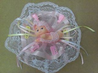 baby shower party favor corsage blue pink boy girl ylo