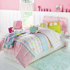 Pastel Owl Six Piece Twin Bed Comforters Set BRAND NEW  Super Cute