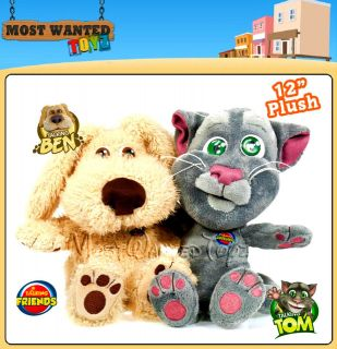 Talking Ben or Tom 12 Large Soft Plush Iphone /Android App Character