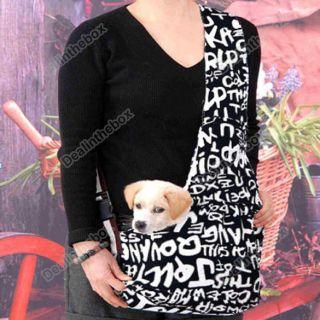 Dark Blue white Strip Sling Pet Cat Dog Tote Single Shoulder Bag