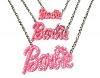 Nicki Minaj Style PINK BARBIEStone Pendant with 18 Chain
