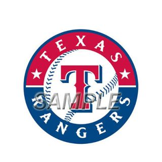 MLB TEXAS RANGERS T SHIRT IRON ON TRANSFER 3 SIZES FOR LIGHT & DARK