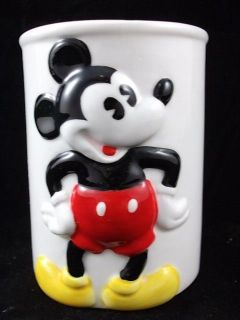 Disney Classic Mickey Mouse Tumbler Bathroom Ceramic Drinking Cup 3.5