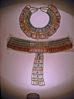 Egyptian Queen Cleopatra Beaded Necklace Collar Belt