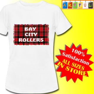 Bay city rollers absolute music Womens T Shirt New Lady fit White
