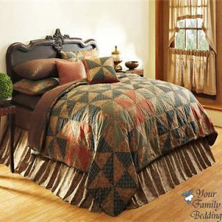 Country Primitive Cabin Twin Queen King Size Quilt Cotton Bedding Set