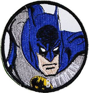 BATMAN Retro Action Logo Embroidered Patch Super Friends Comic Robin
