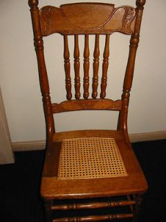 Circa 1900 Antique Solid Oak chairs