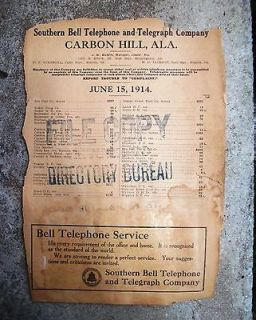1914 Carbon Hill, Alabama   Phone Directory   Southern Bell Telephone