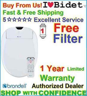 + Brondell Swash 900 *ELONGATED or ROUND *WHITE Bidet Toilet Seat