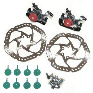 FRONT & REAR DISC BRAKE SET   160MM ROTORS   BIKE BICYCLE + 4 SETS