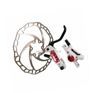 Hydraulic 160 + 160 Disc Brake Superlite White PVC hose MTB BMX bike